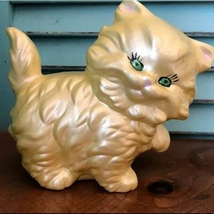 Vintage 70s 80s Cat Figurine Long-haired Persian